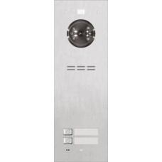 ACO FAM-PRO-2NPACC 2-rodzinny panel wideodomofonowy, podtynkowy, stal nierdzewna, czytnik