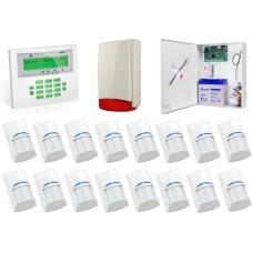 Zestaw alarmowy SATEL Integra 64, Klawiatura LCD, 16 czujek ruchu, sygnalizator zewnętrzny