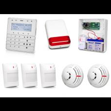 Zestaw alarmowy SATEL Integra 24, Klawiatura sensoryczna, 3 czujniki ruchu, 2 czujniki dymu, sygnalizator zewnętrzny SPL-2030