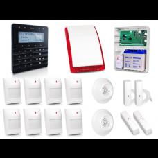 Zestaw alarmowy SATEL Integra 64, Klawiatura sensoryczna, 8 czujników ruchu PET, 2 czujniki zalania, 2 czujniki wibracyjne, czujnik czadu, czujnik gazów usypiających, sygnalizator zewnętrzny SP-4003
