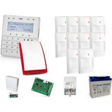 Zestaw alarmowy SATEL Integra 128-WRL, Klawiatura sensoryczna, 10 czujników ruchu, sygnalizator zewnętrzny SP-4003, powiadomienie GSM