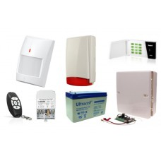 Zestaw alarmowy Satel Micra LED, Pilot, 4 Czujki bezprzewodowe, Sygnalizator zewnętrzny