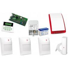 Alarm Satel CA-5 LCD, 3xAqua Plus, 1xFD-1, syg. zew. SP-4001