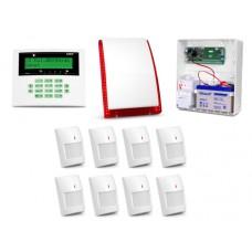 Alarm Satel CA-10 LCD, 8xGraphite, syg. zew. SP-4003