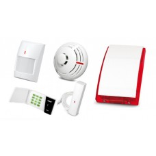 Alarm Satel Micra LED, 6xMPD-300, MFD-300, MSD-300, syg. zew. SP-4003