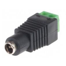 GNIAZDO SKRĘCANE G-55 2.1/5.5 GETFORT DO ZASILACZA CCTV