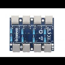 Moduł LAN z zabezpieczeniem przeciwprzepięciowym ECO z ochroną PoE EWIMAR PTF-4-ECO/PoE