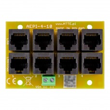 Adapter PoE PASSIVE 4 kanałowy 10/100 ATTE AEPI-4-10-OF