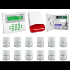 Zestaw alarmowy SATEL Integra 32 LCD, 12 czujek, sygnalizator zewnętrzny