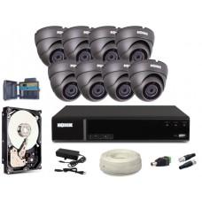 Zestaw CCTV, 8x Kamera FullHD/IR20, Rejestrator 8k. + 2TB