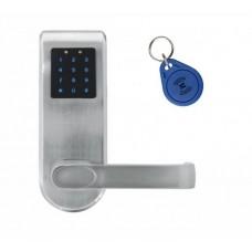 KLAMKA EURA ELH-82B9/SILVER z czytnikiem kart RFID i zamkiem szyfr, sterowanie zdalne, srebrny