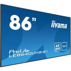 """Monitor LED IIYAMA LE8640UHS-B1 4K 86"""""""