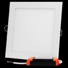 Plafon LED kwadratowy podtynkowy aluminiowa obudowa 24W 3000K (ciepły biały)