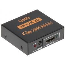 ROZGAŁĘŹNIK HDMI-SP-1/2KF 1xWEJŚCIE NA 2XWYJŚCIA