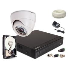 Zestaw AHD, 1x Kamera 1300TVL/IR20, Rejestrator 4ch + 500GB
