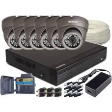 Zestaw 4w1, 6x Kamera HD/IR20, Rejestrator 8ch