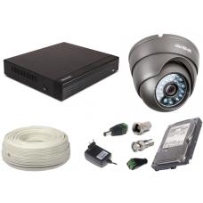 Zestaw AHD, 1x Kamera HD/IR35, Rejestrator 4ch + 500GB