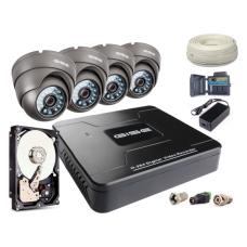 Zestaw AHD, 4x Kamera 900TVL/IR20, Rejestrator 4ch + 500GB