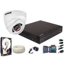 Zestaw AHD, 1x Kamera HD/IR 25m, Rejestrator 4ch + 500GB