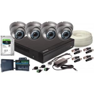 ZESTAW AHD, 4 x Kamera FULL HD/IR 35, Rejestrator 4ch+ 1TB