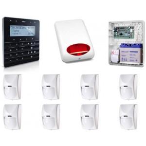 Zestaw alarmowy SATEL Integra 128-WRL, klawiatura sensoryczna, 8 czujek, sygnalizator zewnętrzny, powiadomienie