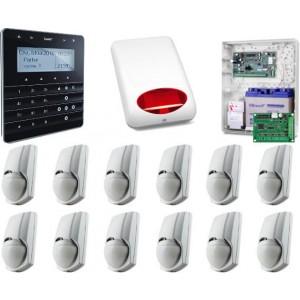 Zestaw alarmowy SATEL Integra 128-WRL, klawiatura sensoryczna, 12 czujek, sygnalizator zewnętrzny, powiadomienie