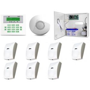 Zestaw alarmowy SATEL Integra 32 LCD, 7 czujek, sygnalizator wewnętrzny