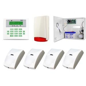 Zestaw alarmowy SATEL Integra 24 LCD, 4 czujki, sygnalizator zewnętrzny