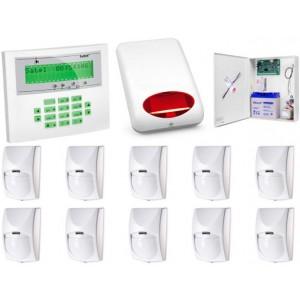 Zestaw alarmowy SATEL Integra 64 LCD, 10 czujek, sygnalizator zewnętrzny