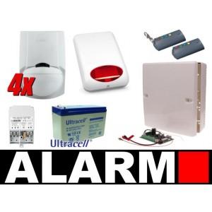 Zestaw alarmowy Satel Micra, 2 Piloty, 4 Czujki, Sygnalizator zewnętrzny