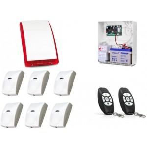 Alarm Satel Micra, 2xMPT-300, 6xBINGO, syg. zew. SP-4001