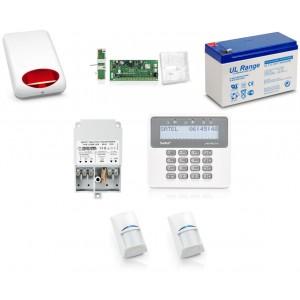 Zestaw alarmowy SATEL PERFECTA 16, Klawiatura LCD, 2 czujniki ruchu, sygnalizator zewnętrzny, powiadomienie GSM