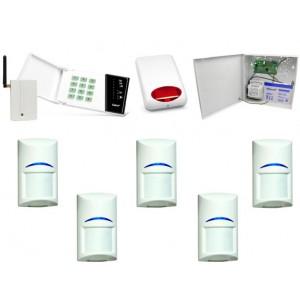 Zestaw alarmowy Satel CA-6 LED, GSM, 5 czujek, Sygnalizator zewnętrzny