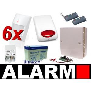 Alarm Satel Micra, 2xT-4, 6xMPD-300 PET, syg. zew. SPL-5010 R