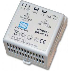 ACO DR-45-15 Zasilacz video DIN 15-17V, 2,8A