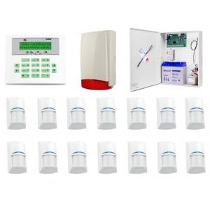 Zestaw alarmowy SATEL Integra 64, Klawiatura LCD, 14 czujek ruchu, sygnalizator zewnętrzny