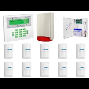 Zestaw alarmowy SATEL Integra 64, Klawiatura LCD, 10 czujek ruchu, sygnalizator zewnętrzny