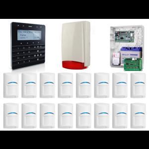 Zestaw alarmowy SATEL Integra 128-WRL, Klawiatura sensoryczna, 14 czujek ruchu, sygnalizator zewnętrzny, powiadomienie GSM