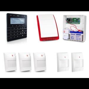 Zestaw alarmowy SATEL Integra 24, Klawiatura sensoryczna, 2 czujniki ruchu PET, 2 czujniki dualne PET, sygnalizator zewnętrzny SP-4001