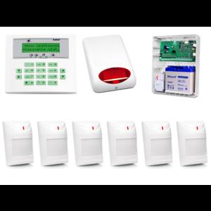 Zestaw alarmowy SATEL Integra 32, Klawiatura LCD, 6 czujników ruchu, sygnalizator zewnętrzny SPL-5010