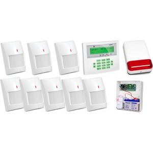 Zestaw alarmowy SATEL Integra 32, Klawiatura LCD, 8 czujników ruchu, sygnalizator zewnętrzny SPL-2030