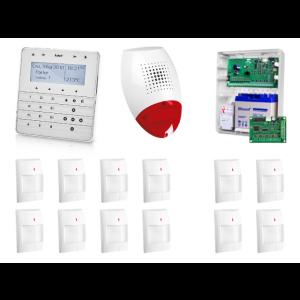 Zestaw alarmowy SATEL Integra 32, Klawiatura sensoryczna, 8 czujników ruchu, 2 x czujniki ruchu dualne, sygnalizator zewnętrzny SP-500