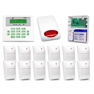 Zestaw alarmowy SATEL Integra 64, Klawiatura LCD, 12 czujników ruchu PET, sygnalizator zewnętrzny SPL-5010