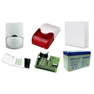 Zestaw alarmowy SATEL CA-4, Klawiatura LED, 1 czujnik ruchu, sygnalizator wewnętrzny
