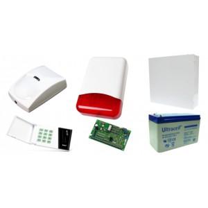 Zestaw alarmowy Satel CA-10 LED, 7 czujek, Sygnalizator zewnętrzny