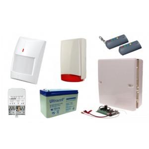 Alarm Satel Micra, 2xT-4, 6xMPD-300 PET, syg. zew. Beewell
