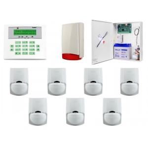 Alarm Satel CA-10 LCD, 7xLC-100 PI, syg. zew. Beewell