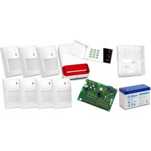 Alarm Satel CA-6 LED, 4xAqua Pet, 3xGrey Plus, syg. zew. SPL-2030
