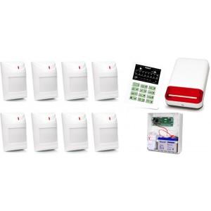 Alarm Satel CA-10 LED, 8xAqua Pet, syg. zew. SPL-2030