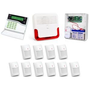 Alarm Satel CA-10 LCD, 6xGraphite Pet, 4xGrey Plus, syg. zew. SD-6000